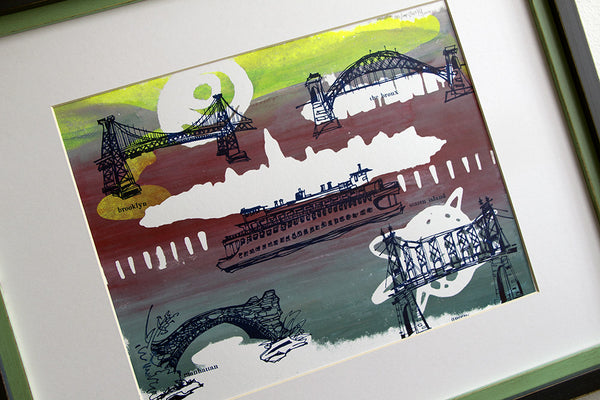 Five Boroughs #42 original handpulled screenprint by Kathryn DiLego
