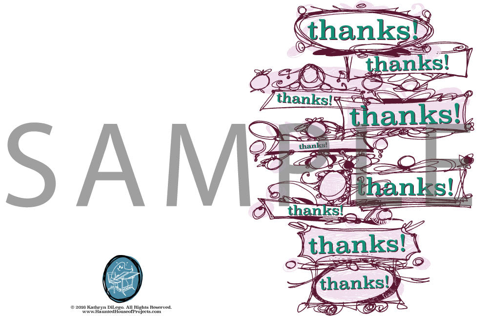 photo relating to Free Printable Thank You Card known as Absolutely free Printable Thank-On your own Card HHoP Retail outlet