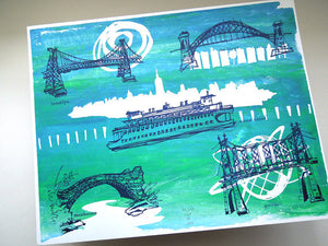 Five Boroughs #03 original handpulled screenprint by Kathryn DiLego - Haunted House of Projects - 1