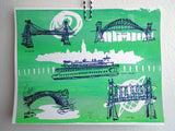 Five Boroughs #14 original handpulled screenprint by Kathryn DiLego