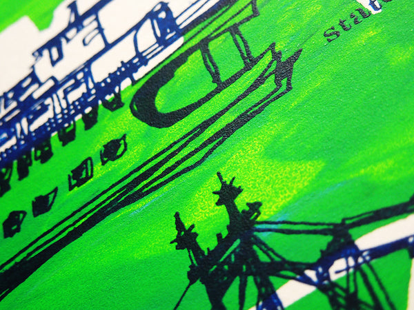 Five Boroughs #13 original handpulled screenprint by Kathryn DiLego