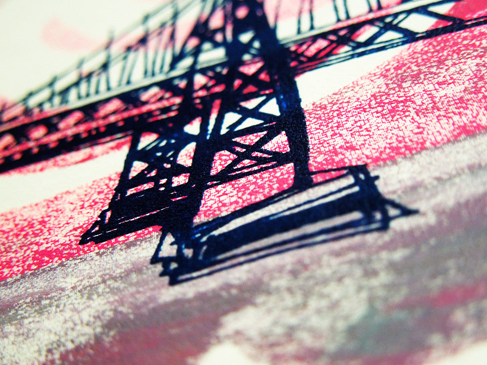Five Boroughs #21 original handpulled screenprint by Kathryn DiLego