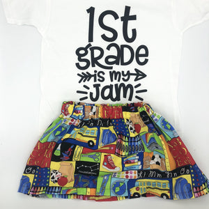 Back to School is My Jam Skirt