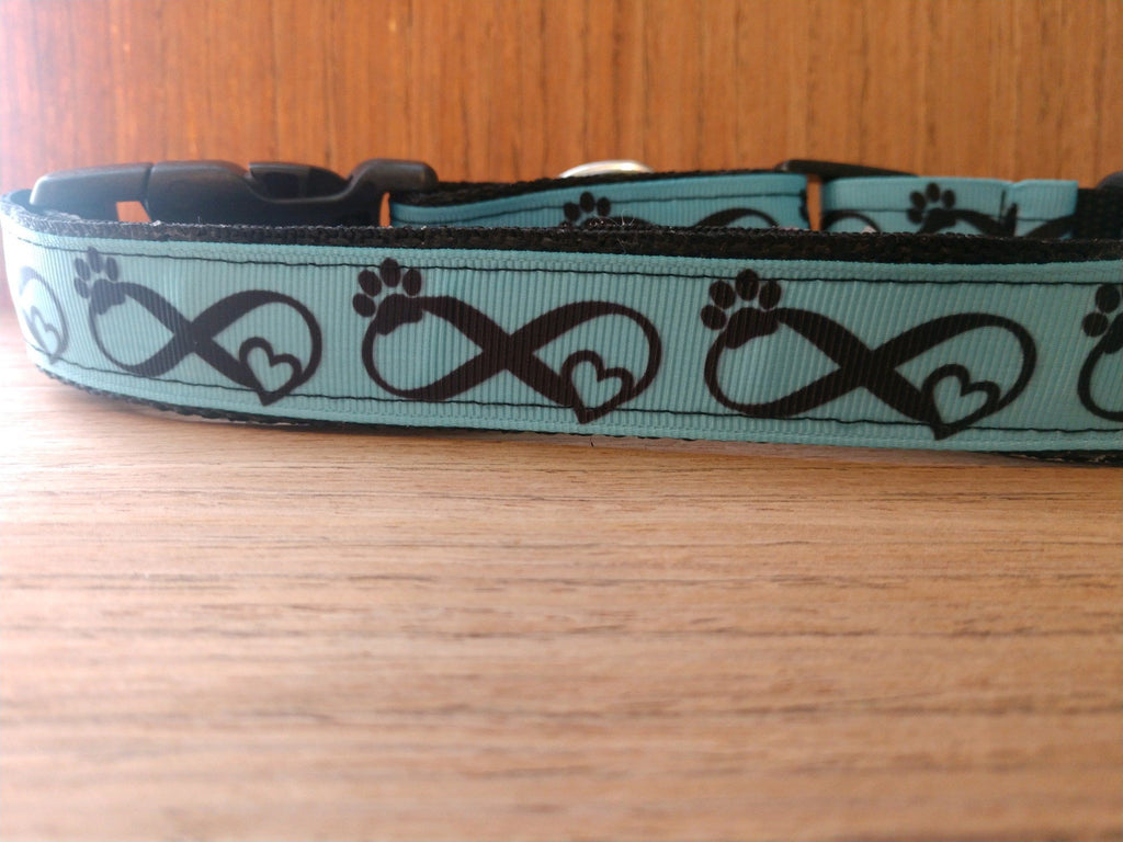 Blue Infinity Martingale Dog Collar