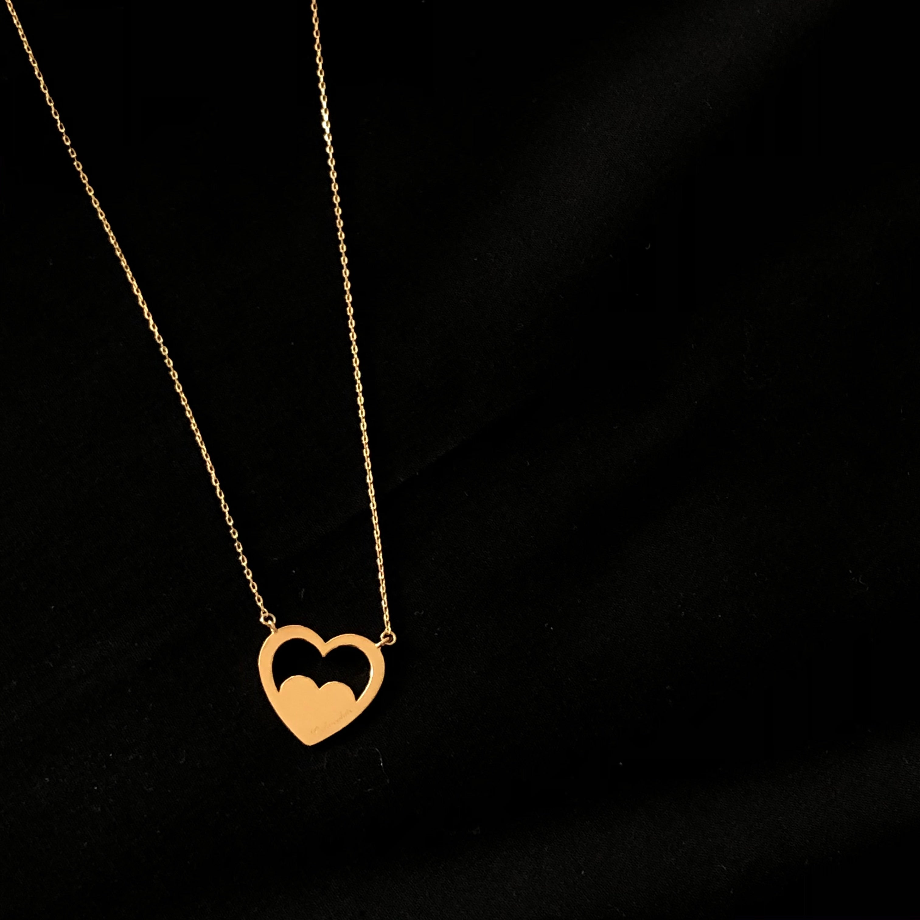 Heart plate necklace