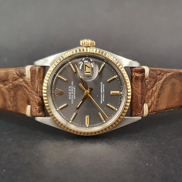 1974 Rolex DateJust 1601 Steel & Gold Grey Sigma Dial