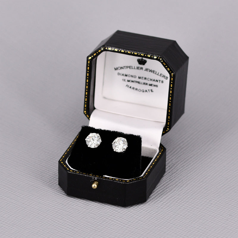 4.03ct Diamond Stud Earrings