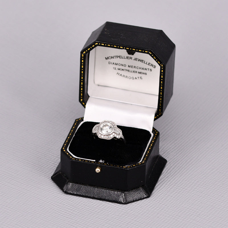 Platinum Deco Style Diamond Ring