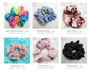 PATTERNS SCRUNCHIES