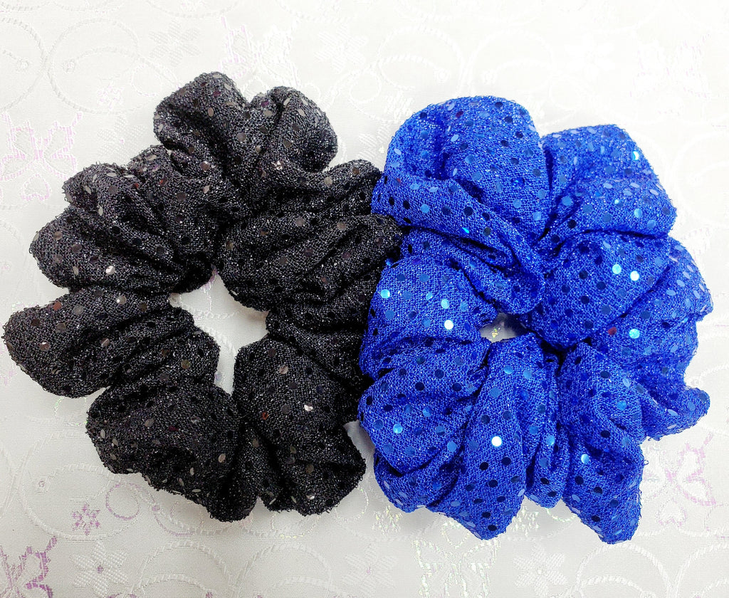 2 Pack Sequin Scrunchies set
