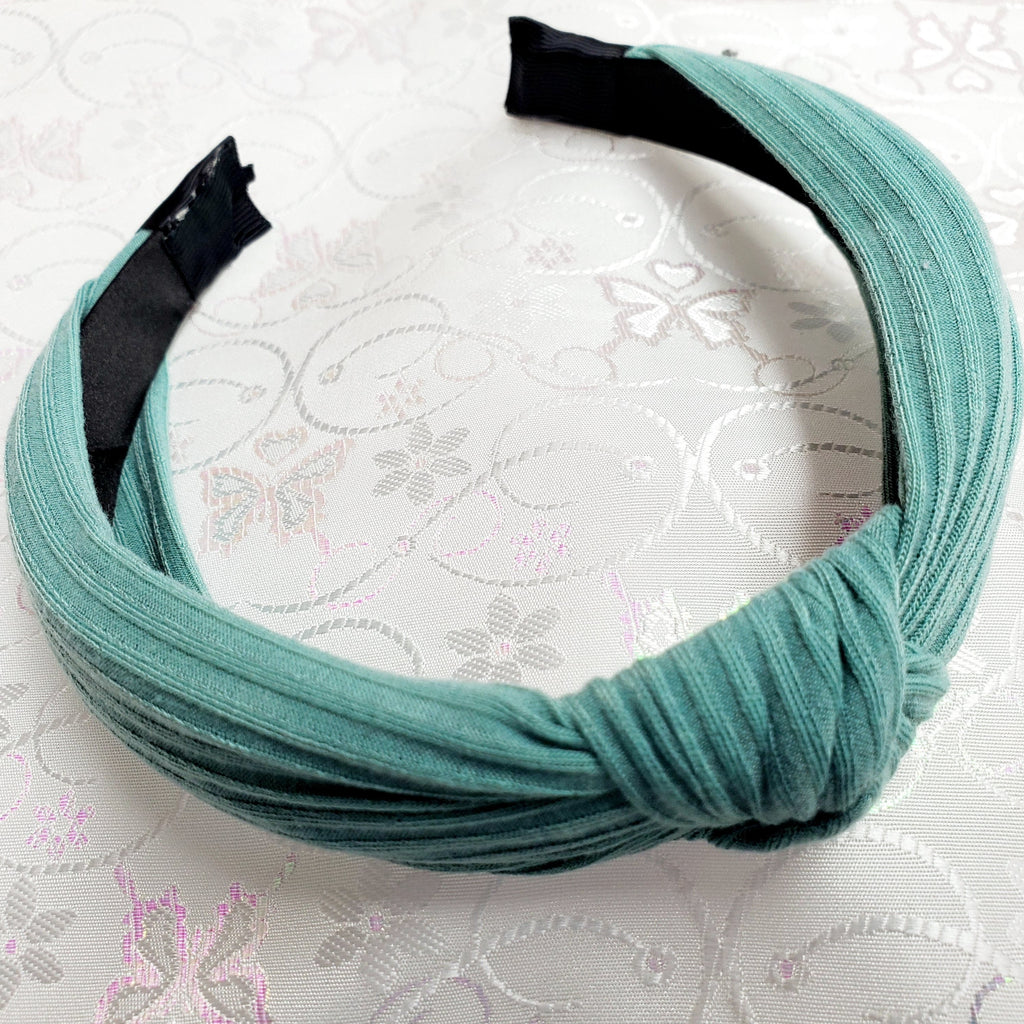Jersey Teal Knotted