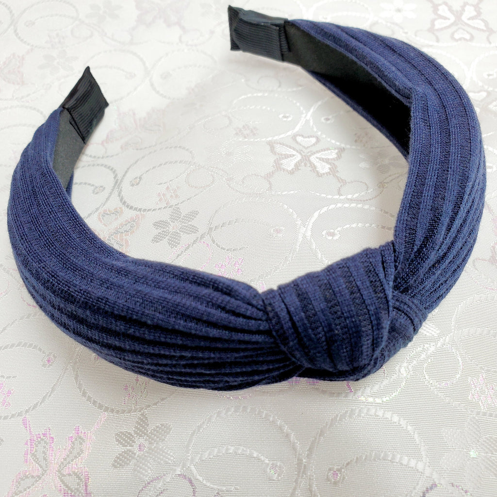 Jersey Navy Knotted