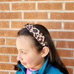 Leopard dark hand knotted headband