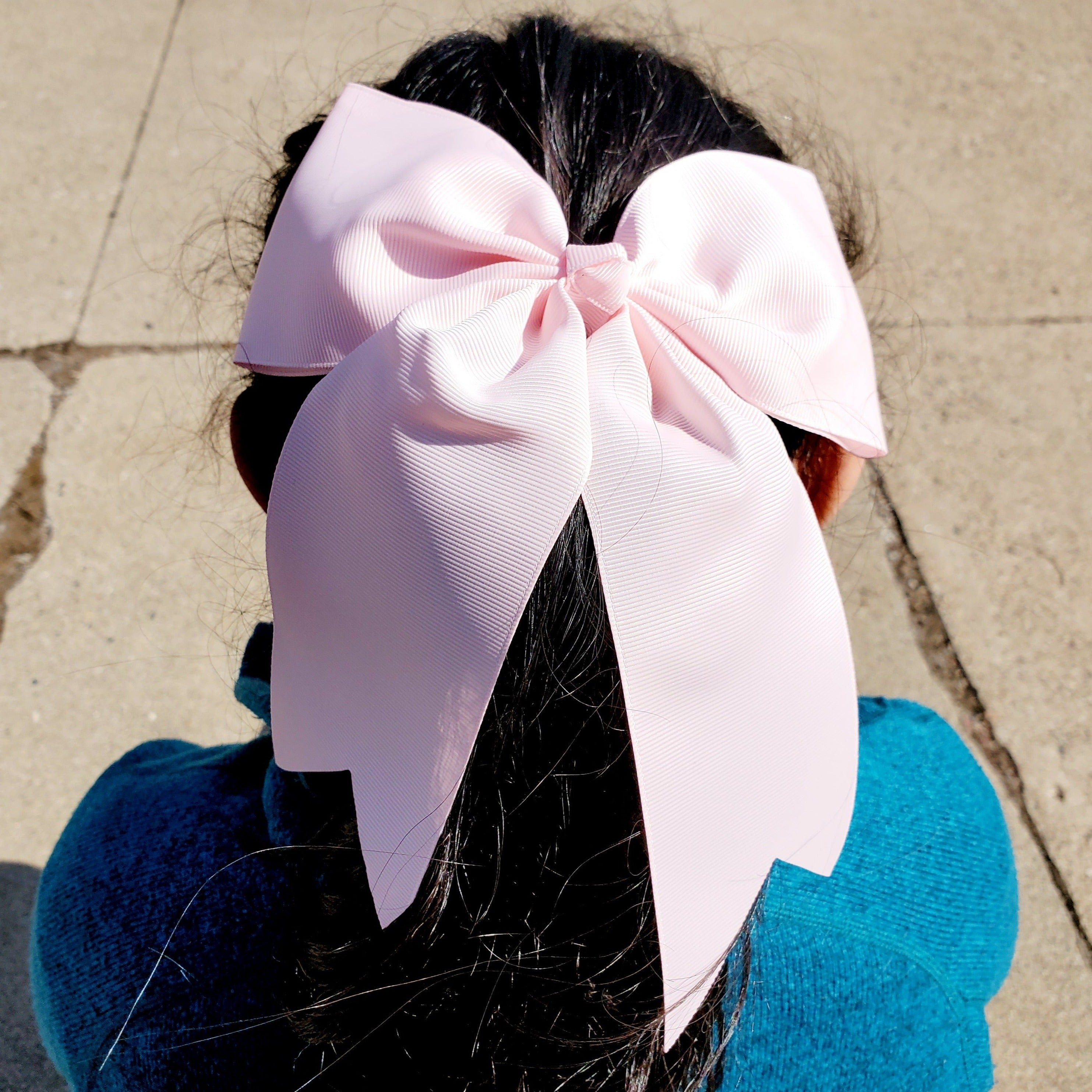 Cheer Pink  Bow for Girls 7""