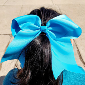 Cheer Turquoise  Bow for Girls 7""