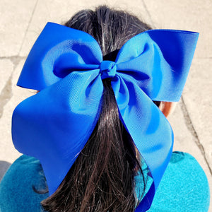 Cheer Royal Bow for Girls 7""