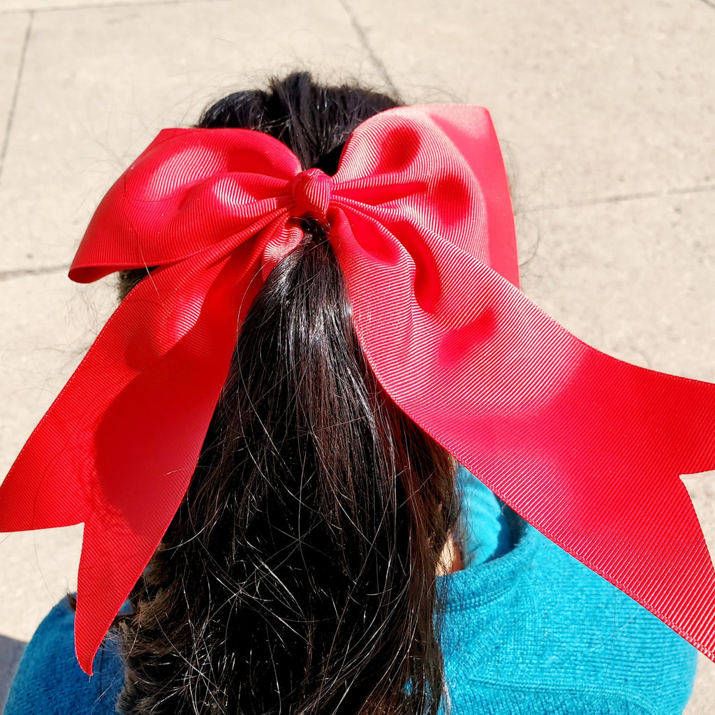 Cheer Red Bow for Girls 7""