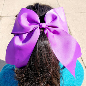 Cheer Purple Bow for Girls 7""