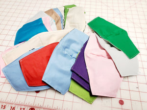 12 Face Masks Hand Made 100 % Cotton Fabric with elastic ear loops Free Shipping
