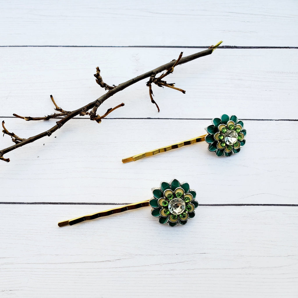 flower beaded bobby pin