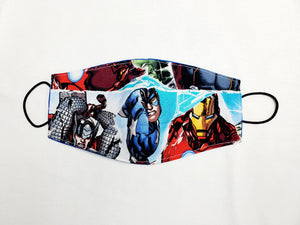 Face Masks Super Heroes  Hand Made 100 % Cotton Fabric