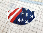 4th of July Mini Face Masks Hand Made 100 % Cotton Fabric