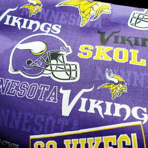 Face  Mask 😷 Minnesota Vikings Hand Made 100 % Cotton Fabric