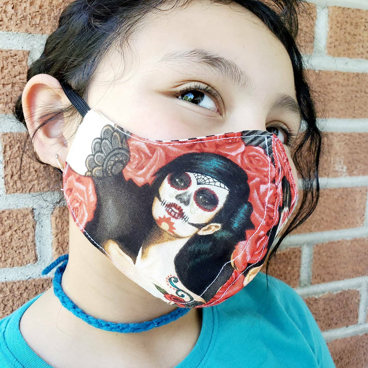 Ladies Skull Face Masks Hand Made 100 % Cotton Fabric