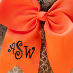 Cheer Monogrammed Hair Bows  for Girls 7""