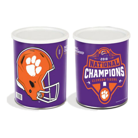 Clemson Tigers 2018-2019 Football National Champions Gift Tin (1 Gallon)