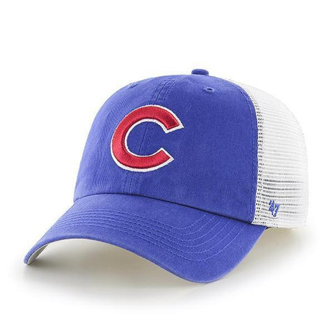 Chicago Cubs 47 Brand Blue Hill Closer Mesh Flexfit Hat Cap b9ac6bab8