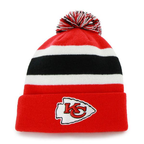 ae8217c6c Kansas City Chiefs 47 Brand Red Breakaway Knit Cuff Beanie Poofball Hat Cap