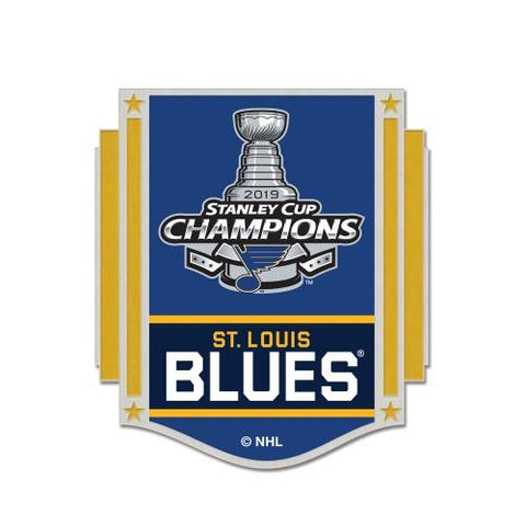 St. Louis Blues 2019 Stanley Cup Champions WinCraft Team Colors Metal Lapel Pin
