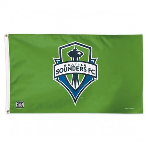 Shop Seattle Sounders MLS WinCraft Sports Green Indoor Outdoor Deluxe Flag (3' X 5')