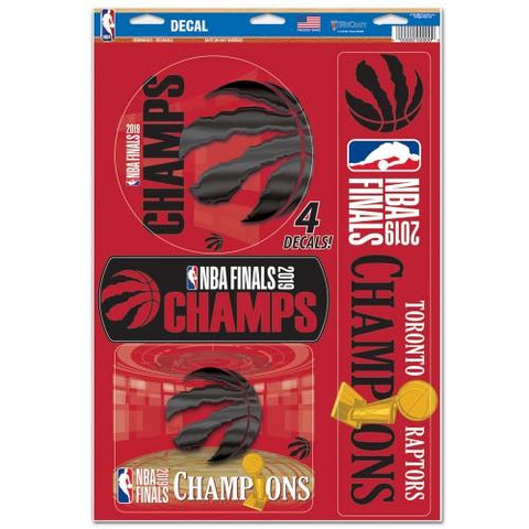 Toronto Raptors 2019 NBA Finals Champions WinCraft Multi-Use Decal Sheet (4 PK)