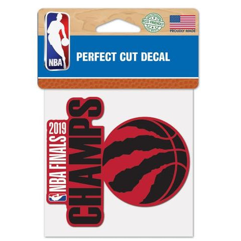 "Toronto Raptors 2019  Finals Champions WinCraft Perfect Cut Decal (4""x4"")"