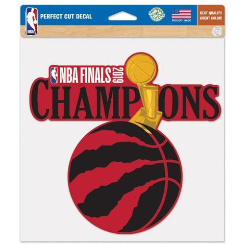 "Toronto Raptors 2019  Finals Champions WinCraft Perfect Cut Decal (8""x8"")"