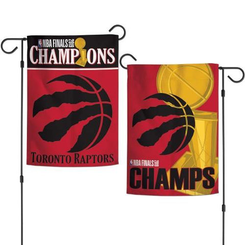 Toronto Raptors 2019  Finals Champions WinCraft Team Colors Garden Flag