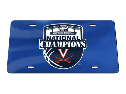Shop Virginia Cavaliers 2019 NCAA Basketball National Champions Inlaid License Plate