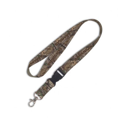 Shop Arkansas Razorbacks WinCraft Camo Snap Buckle NCAA Licensed Keychain Lanyard - Sporting Up