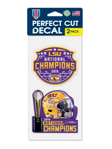 LSU Tigers 2019-2020 CFP National Champions WinCraft Perfect Cut Decal (2 Pack) - Sporting Up