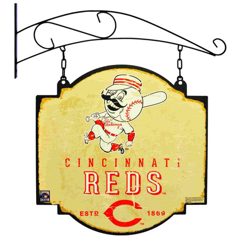 "Cincinnati Reds Winning Streak Retro 1954 Tavern Pub Bar Metal Sign (16""x16"")"