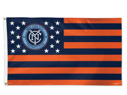 Shop New York City FC MLS Navy America Stars & Stripes Indoor Outdoor Flag (3' x 5')