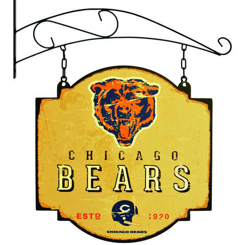"Chicago Bears Winning Streak Alternate Logo Tavern Pub Bar Metal Sign (16""x16"")"