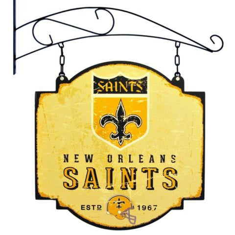 "New Orleans Saints Winning Streak Retro 1967 Tavern Pub Bar Metal Sign (16""x16"")"