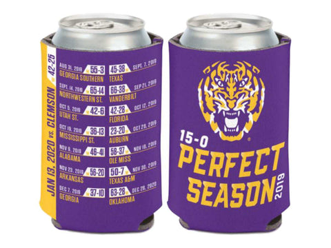 LSU Tigers 2019-2020 CFP National Champions WinCraft Perfect Season Can Cooler
