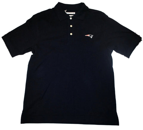 New England Patriots Cutter & Buck Navy Knit Polo Shirt (S)