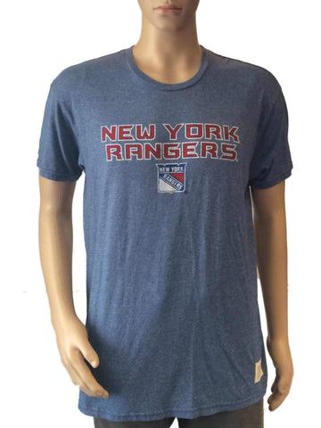 Shop New York Rangers Retro Brand Blue Red Vintage Style NHL T-Shirt