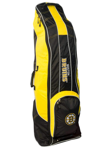 Boston Bruins Team Golf Black Golf Clubs Wheeled Luggage Travel Bag