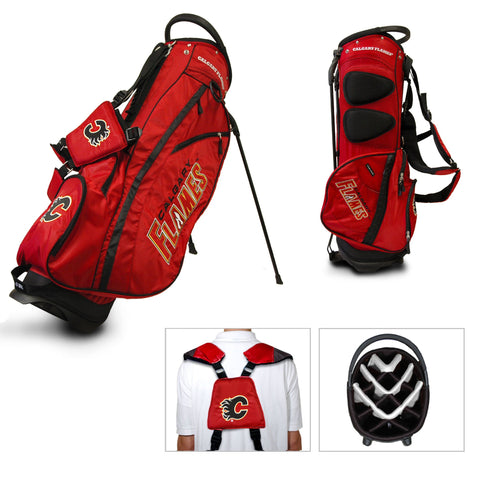 Calgary Flames Team Golf Fairway Lightweight 14-Way Top Golf Club Stand Bag